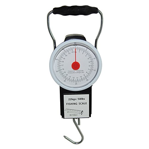 MadBite Portable Fish Scale with Tape Measure (Mechanical Scale)
