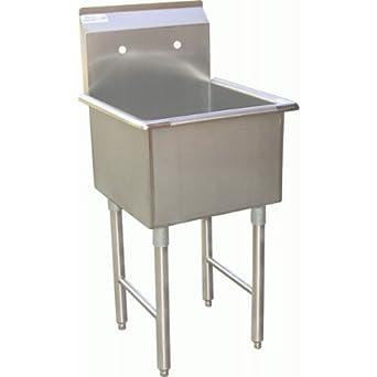 Amazon.com: Lavabo de preparación de 1 compartimento ...