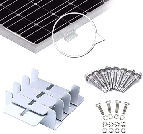 Wuyee 4pcs Aluminiumlegierung Sonnenkollektor Dachmontagewinkel Z-Typ Halterung für Caravan Dach In Photovoltaik-Anlage