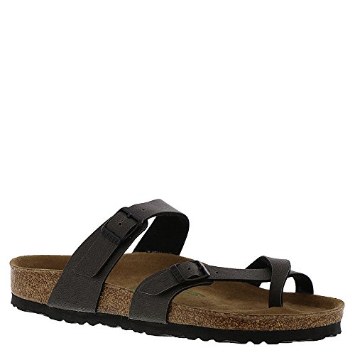 - Birkenstock Womens Mayari Open Toe Casual Slide Sandals, Grey, Size 8.0