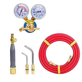 Image of Home Improvements 8milelake Air Acetylene Kit Torch Kit Swirl with 1 piece Acetylene Regulator CGA 200 Welding Gas Welder