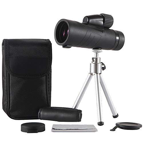 Ueasy Store Monocular Telescope,15x50 BAK4 Prism - Waterproof Fog-Proof FMC Monoculars for Night Vision Bird Watching Hunting Camping Travelling Wildlife Scenery (Black) by Ueasy Store
