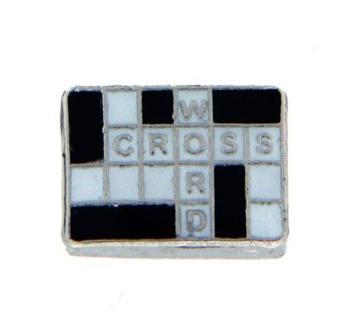 - Crossword Puzzle Floating Locket Charm