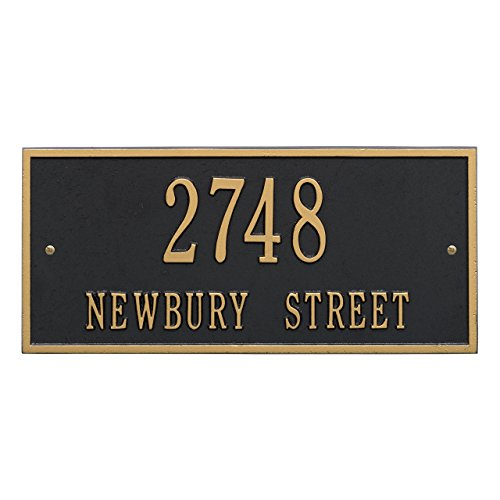 Customized Hartford 2 Line Aluminum Address Plaque 16