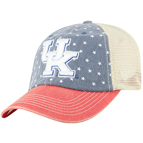 Top of the World NCAA Kentucky Wildcats Men's Freedom Icon Adjustable Logo Hat, Navy]()