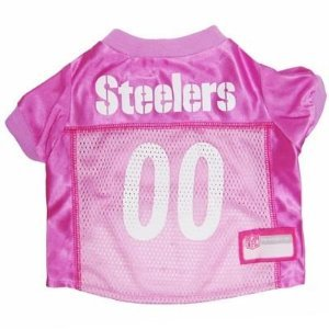 Pets First PITTSBURGH STEELERS PINK DOG PET JERSEY LICENSED NFL MEDIUM