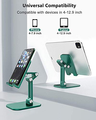 Soporte Movil,Multiangulo Soporte Tablet,Soporte Tablet Mesa Plegable para iPhone 11, 11 Pro, XS XS MAX XR X 8 7 6 Plus 5 4, Samsung S10 S9 S8, XiaoMi,Huawei Otras Smartphones-Verde