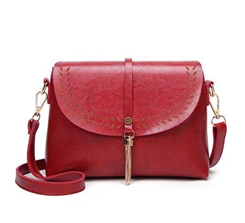 color Messenger Negro Sra Vintage Style Rojo Party Bag Trend Flecos La Shell De Enviar Bandolera Monedero Small Bolsa Gkkxue 0zTqwa5x