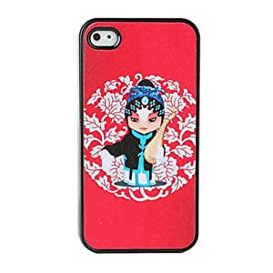 LCJ Lute Pattern China Style Dull Polish Hard Case for iPhone 4 and 4S (Multi-Color)