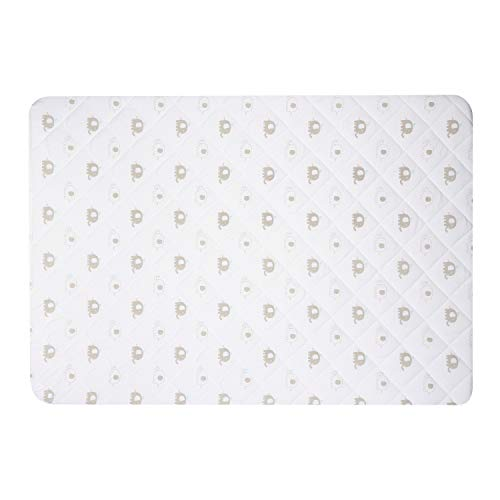 Pack N Play Mattress Pad Cover Protector - Fitted Baby Playard Crib Quilted Padded Mattress Topper Mini Crib Portable Crib - Hypoallergenic, Foldable, Waterproof, Machine & Dryer Safe