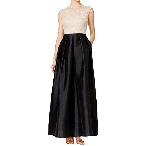 ivory and black formal dresses - 3