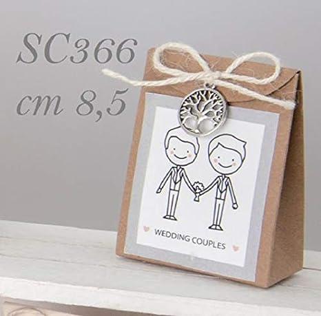 Bomboniere Matrimonio Civile.12 Pezzi Gioia Box Scatolina Portaconfetti Sposi Lui Lui