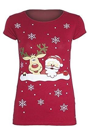 930d21b5f6e9f Be Jealous - T-shirt motif Noël Rudolph Olaf pour femmes - XXL - 48 ...