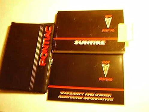 2002 pontiac sunfire owners manual pontiac amazon com books rh amazon com Pontiac Phoenix Pontiac Phoenix