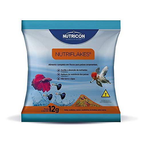 Nutriflakes 12g, 30 Unidade Fardo Nutricon Para Todos Os Tipos de Peixe Médio Todas As Fases,