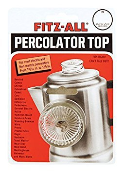 Fitz-all Universal Replacement Top Fits Most Percolators Harold Import New #135