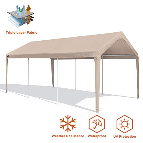 Eurmax Patio 10 x 20 Feet Heavy Duty Carport, Car Canopy Shelter, ()