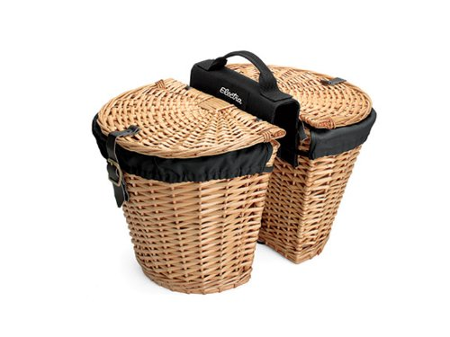 Electra Wicker Saddle Bicycle Baskets for Rear Rack Mount (Panniers) by Electra Bicycle Company