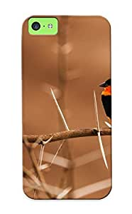 Stylishgojkqt New Arrival OQf104OnHAc Premium Iphone 5c Case(colorful Bird Onthorny Branch )