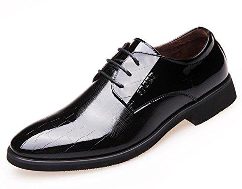 CHENSH Herren Baumwolle Schuhe Business Kleid Schuhe Plus Kaschmir Warme Britische Spitzen Lackschuhe Black
