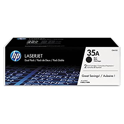 HP 35A (CB435D) Black Original LaserJet Toner Cartridges, 2 pack