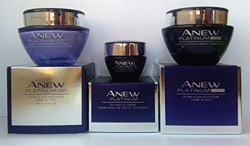 AVON Anew Platinum : Eye and Lip Cream + Day Cream + Night Cream SET !