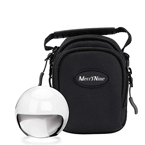 MerryNine Crystal Ball with Ball Case Bag Set, K9 Crystal Photography Ball, Including Microfiber Pouch and Crystal Ball Manual, Perfect Photography Accessories (60mm/2.36