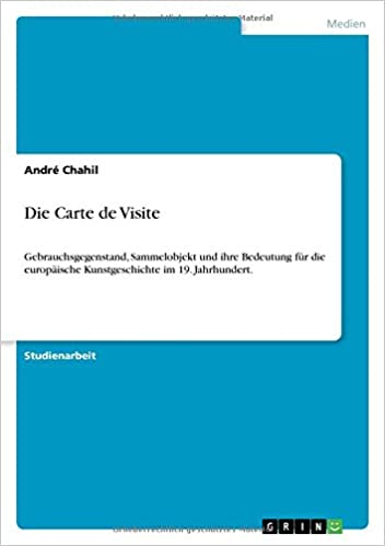 Die Carte De Visite German Edition Andre Chahil 9783640354917 Amazon Books