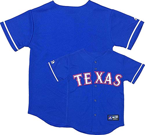 757c7902b Outerstuff Texas Rangers Word Mark Blue Infants Toddler Authentic Alternate  Jersey (Toddler 3T)