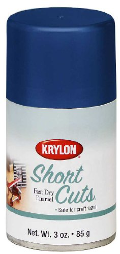 Krylon KSCS073 Short Cuts Aerosol Spray Paint, 3-Ounce, Forever Blue