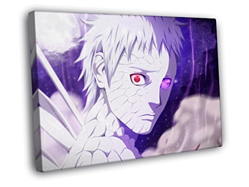 H3V6118 Naruto Uchiha Obito Amazing Anime Manga Art 30x20 FRAMED CANVAS PRINT