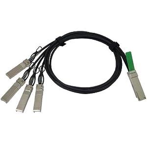 Cisco Twinaxial splitter - QSFP+ - SFP+ - 1 m - tan - for Nexus 3064-E, 3064PQ QSFP-4SFP10G-CU1M=