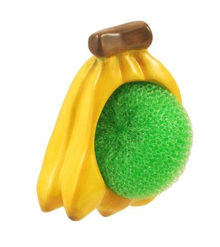 UPC 846825013166, Ceramic Kitchen Spong/Scrub Holder Banana fruit