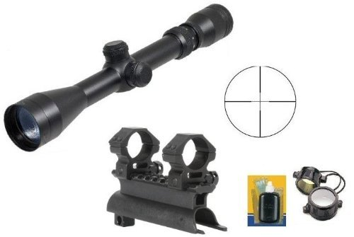 Ultimate Arms Gear Tactical SKS 7.62x39 Rifle See Through Receiver Cover Replacement Scope Mount With 2-7x32 Rifle Duplex Sniper Reticle Scope With Included 7/8