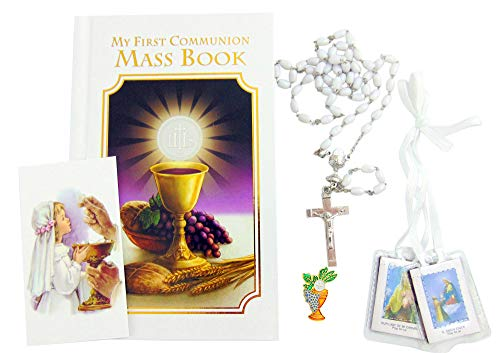 (Westman Works First Holy Communion Girls Set Pack with Missal and Rosary in a Vinyl Case)