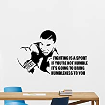 Mike Tyson Quote Wall Decal Fighting Is A Sport Lettering Sport Boxer Fitness Boxing Gym Vinyl Sticker Wall Decor Cool Wall Art Kids Teen Boy Room Nursery Bedroom Wall Decor Mural 82nnn