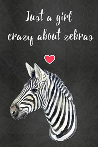 Thick Notebook: Lined Journal (120 Pages) - Zebra gifts, stuff (Gag Gifts) (Animal Print Bedding Bedding)