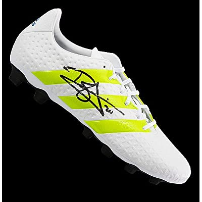 10f2fc4d85b Dele Alli Autographed White and Green Adidas X 16.4 Boot - Certified  Authentic Soccer Signature