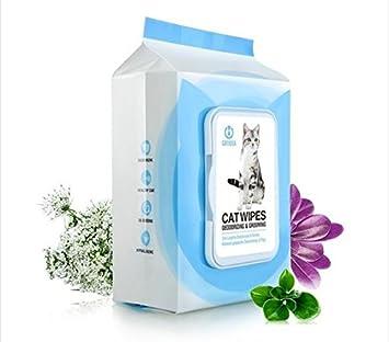 SOVECHO Toallitas Desodorantes Antibacterianas para Perros y Gatos: Amazon.es: Productos para mascotas