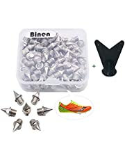 """Track Spikes 1/4"""" Length Pyramid Shoes Spike Replacements Stainless Steel for Track Sprint Cross Country with Storage Box"""