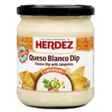 (Herdez Queso Dip 15oz Jar (Pack of 3) (Choose Flavor Below) (Queso Blanco Con Jalapenos))