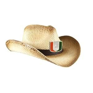 NCAA Miami Hurricanes Women's Cowboy Hat, Ombre