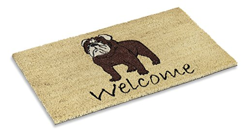 Kempf Bull Dog Design Coco Mat with Vinyl Backing 18