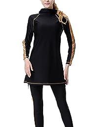 YEESAM Muslim Swimwear Swimsuits for Women - Hijab Modest Islamic Burkini Dress