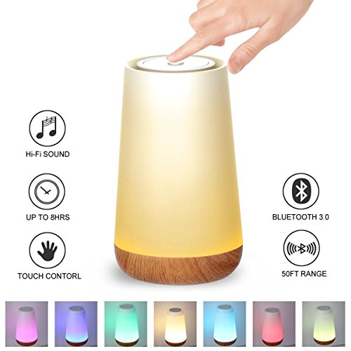 Kainuoa Touch Control Table Lamp, Led Smart With Bluetooth Speaker Control Night Light And Dimmable Color Control LED Light Bedside Lamp For Women, Teens, Kids, Children, Sleeping Aid by Kainuoa (Image #9)