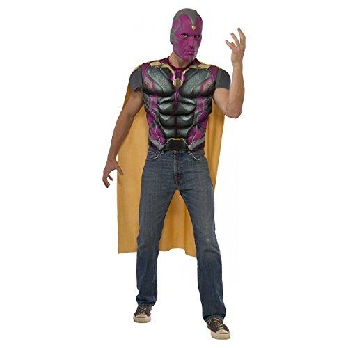 Rubie's Men's Captain America: Civil War Muscle Chest Vision Costume Top, Multi, -