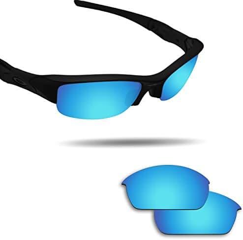 Fiskr Anti-saltwater Replacement Lenses for Oakley Flak Jacket Sunglasses - Various Colors
