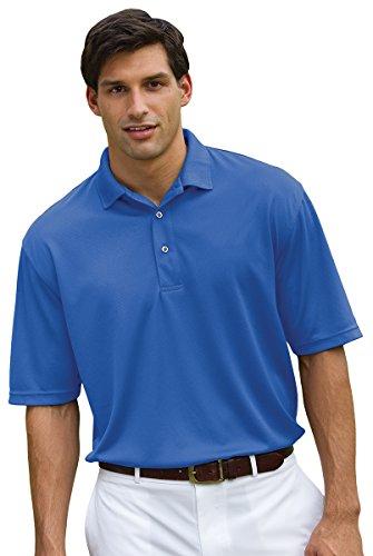 Whispering Pines Sportwear Men's Three Button Pique Polo Shirt, ROYAL, L