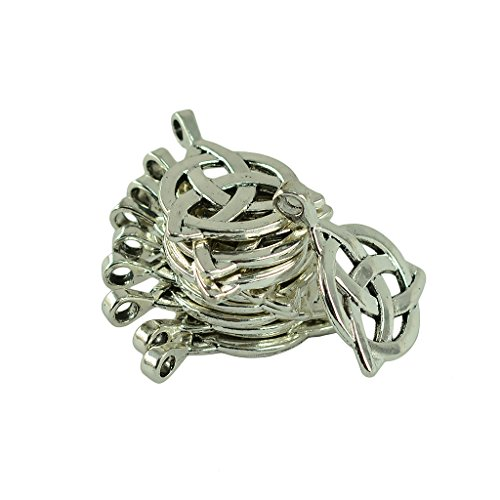 Jili Online 10 Pieces Antique Silver 35x27x6mm Celtic Knot Triquetra Charm Pendants Jewelry