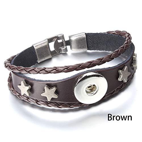 Adjustable Snap Bracelet Vintage Metal Fit 18mm Snap Button Bracelet,9